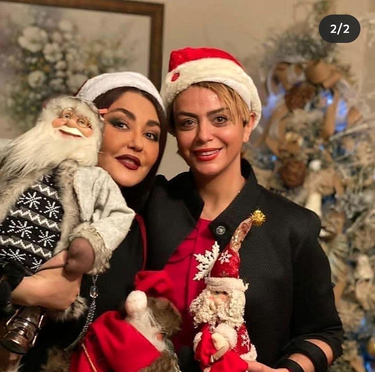 تیپ جنجالی شبنم فرشادجو،هانیه توسلی و شقایق فراهانی در کریسمس + عکس